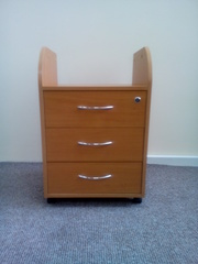 Тумба  офисная на 3 ящика под офисный стол без верхней панели б/у в хо
